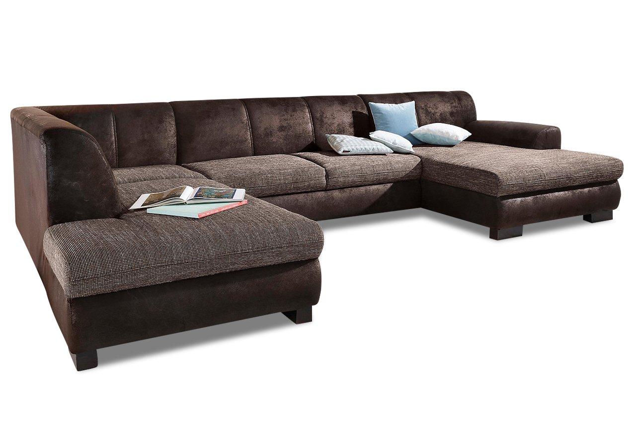 Sofa Wohnlandschaft Nika Melrose Webstoff Braun Online Kaufen