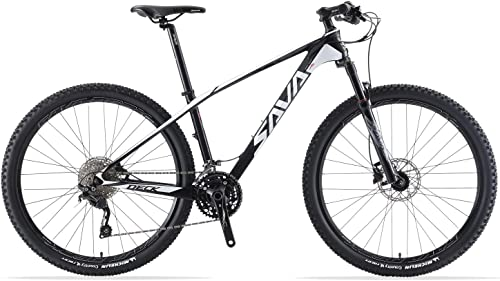 SAVADECK DECK300 Carbon Fiber Mountain Bike 27.5 29 Complete Hard Tail MTB Bicycle 30 Speed with M6000 DEORE Group Set