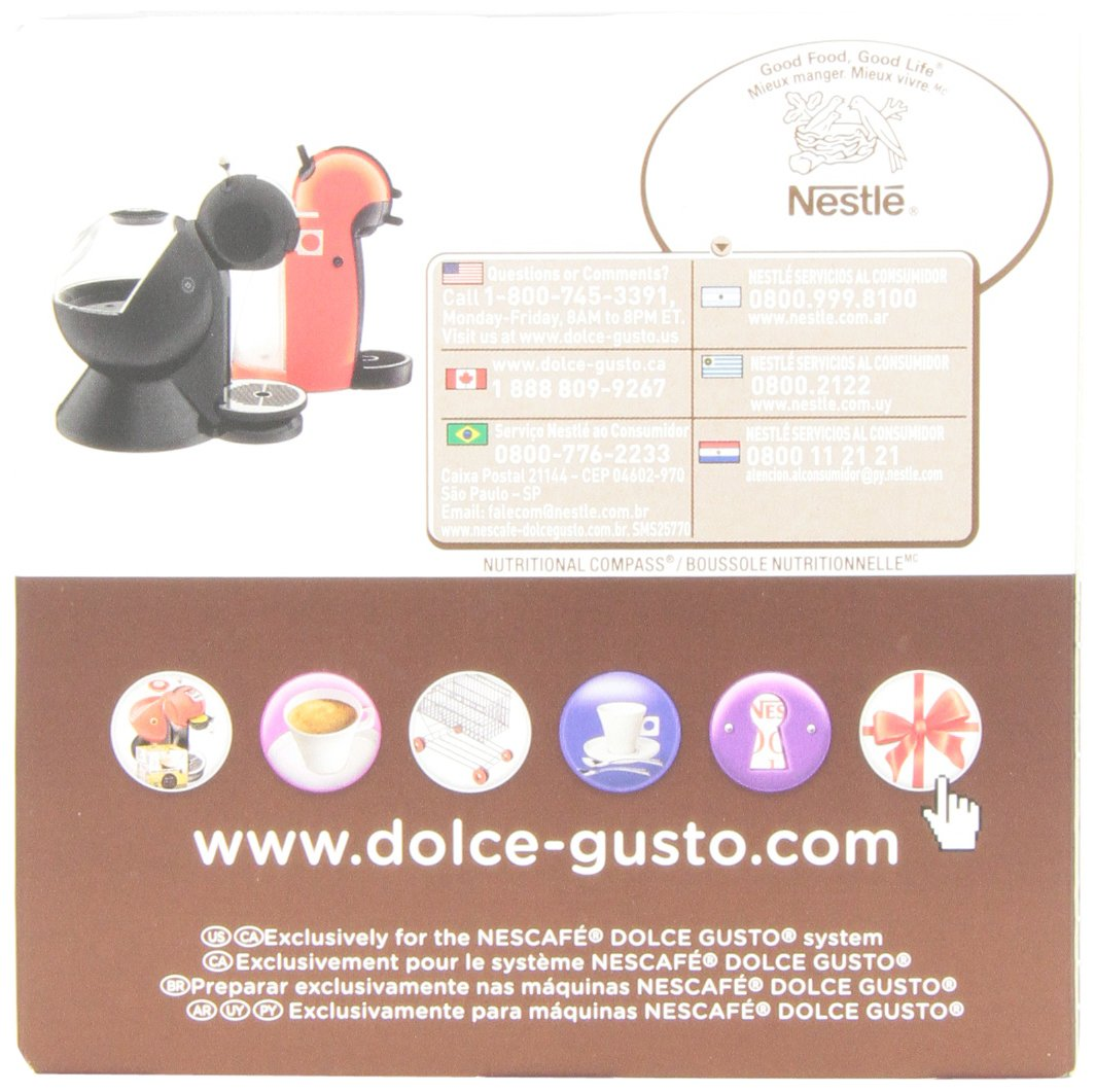 Amazon.com : Nescafe Dolce Gusto for Nescafe Dolce Gusto Brewers, Chococino, 16 Count : Coffee Brewing Machine Capsules : Grocery & Gourmet Food
