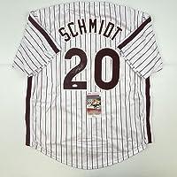 $299 » Autographed/Signed Mike Schmidt Philadelphia Pinstripe Baseball Jersey JSA COA