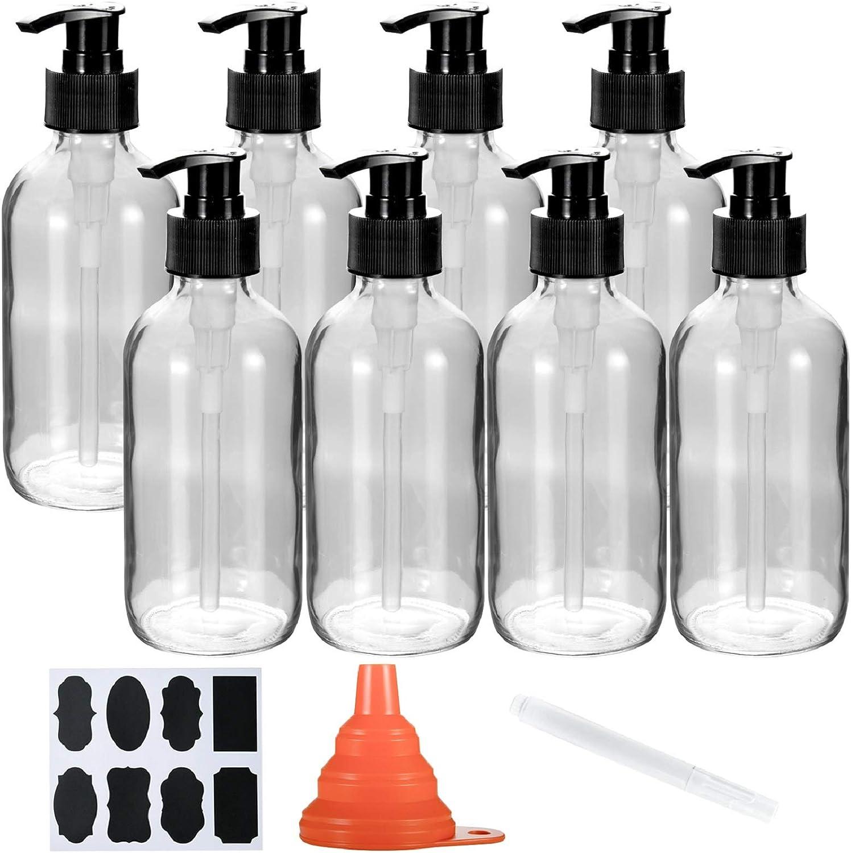 6 unidades dispensador de jab/ón//dispensador de jab/ón de espuma//champ/ú l/íquido de espuma para cocina ducha Queta 300 ml Bomba rellenable vac/ía Botellas//Bomba de espuma dispensador de jab/ón ba/ño