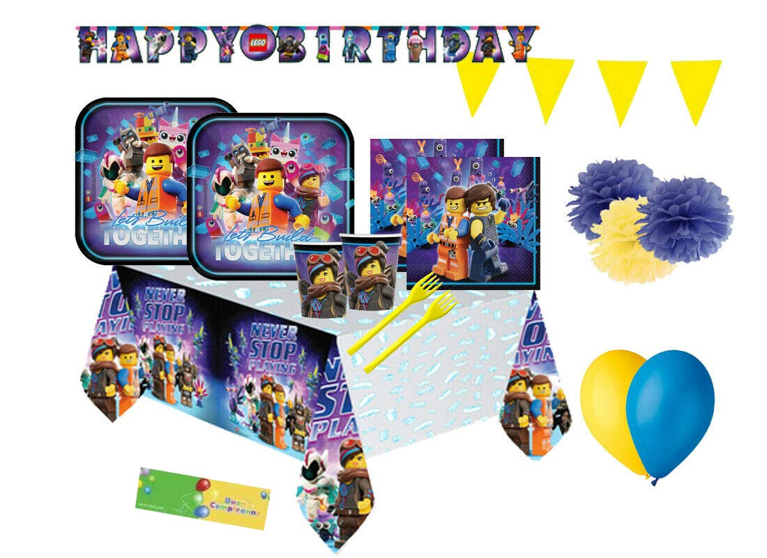DECORATA PARTY Kit N 59 Coordinato Compleanno Lego - Movie