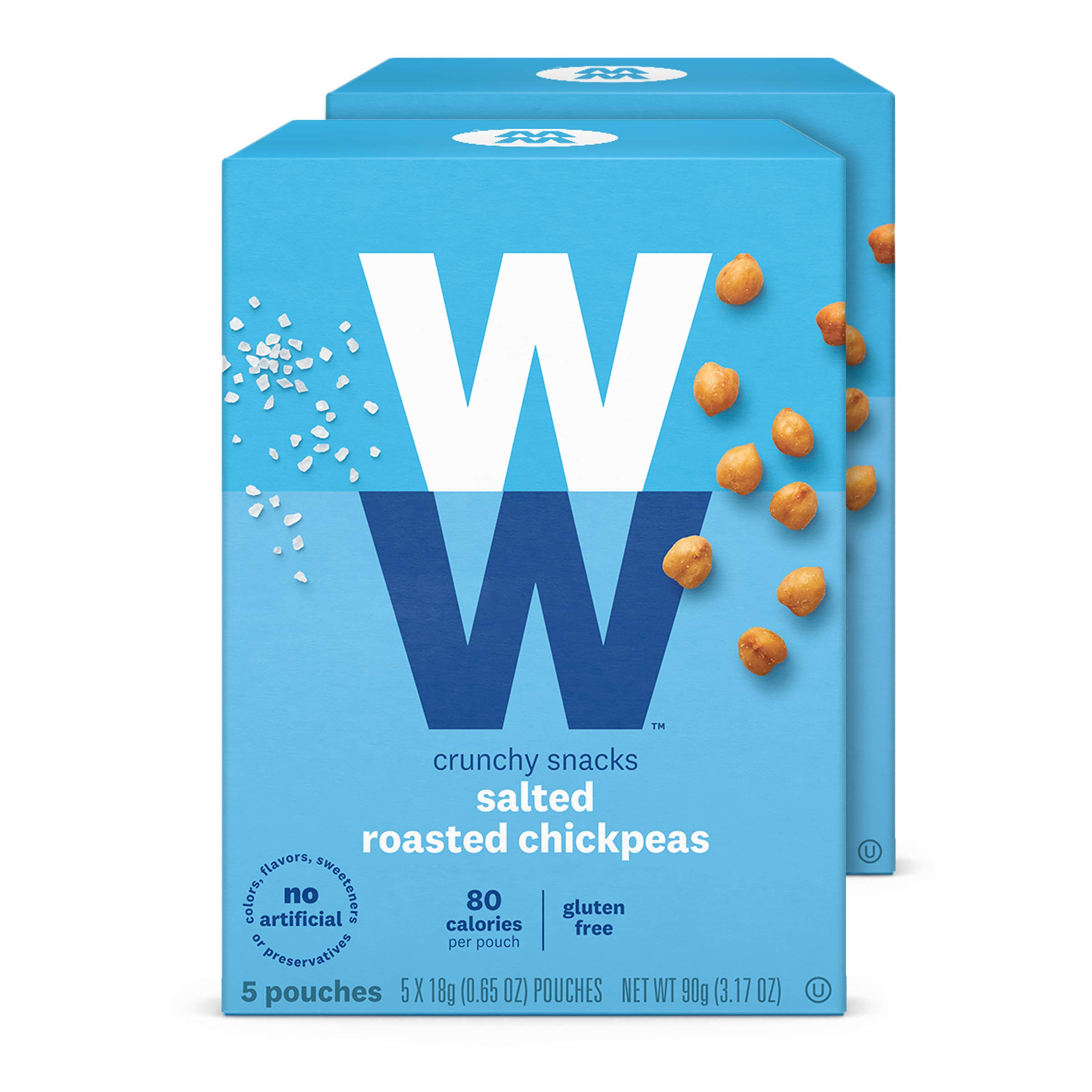 WW Touch of Salt Roasted Chickpeas - Gluten-free, 2 SmartPoints - 2 Boxes (10 Count Total) - Weight Watchers Reimagined
