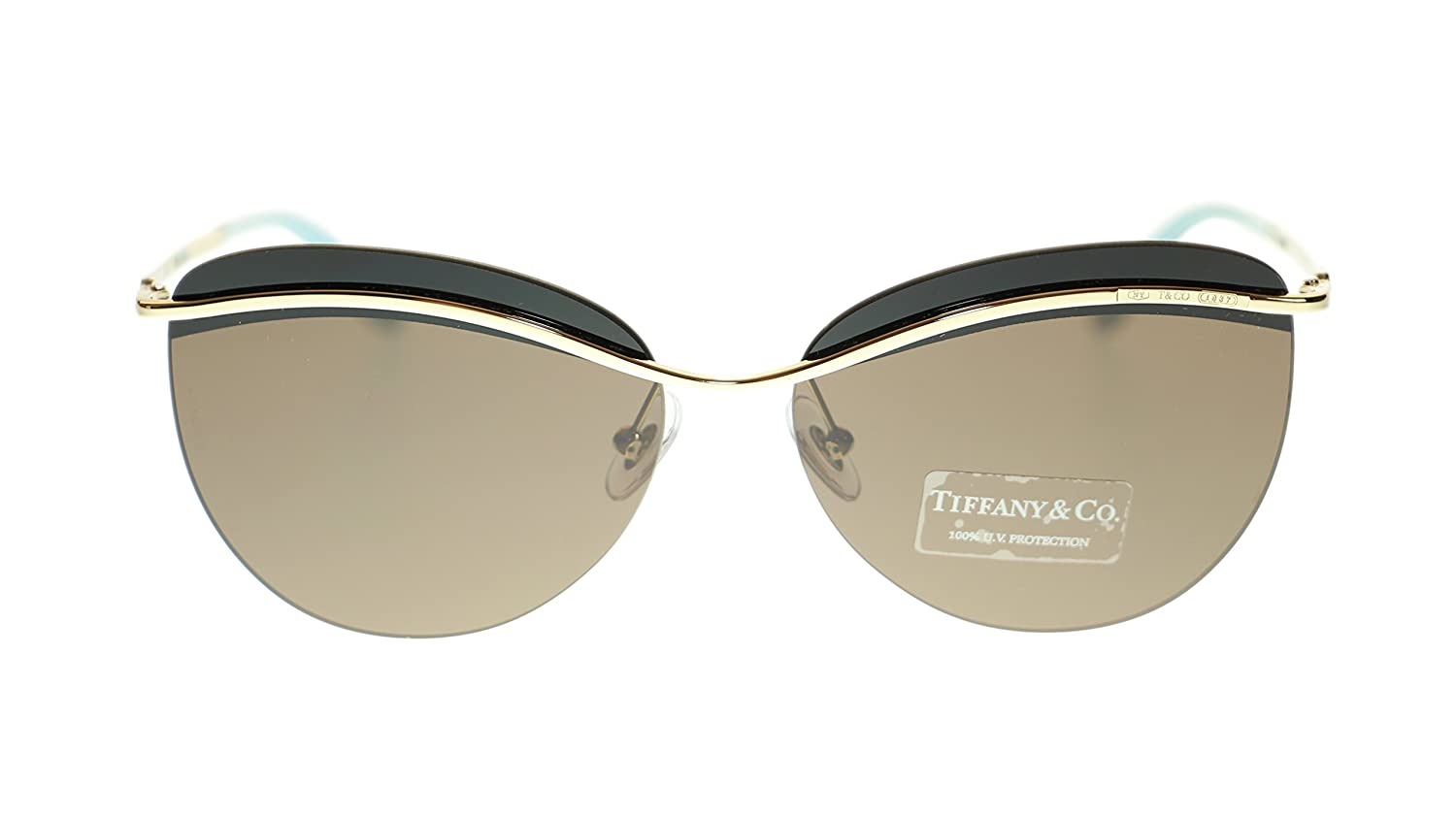 41fad4264986 Amazon.com  TIFFANY   CO Butterfly Women s Sunglasses TF3057 602173 Pale  Gold Brown 60mm Authentic  Clothing