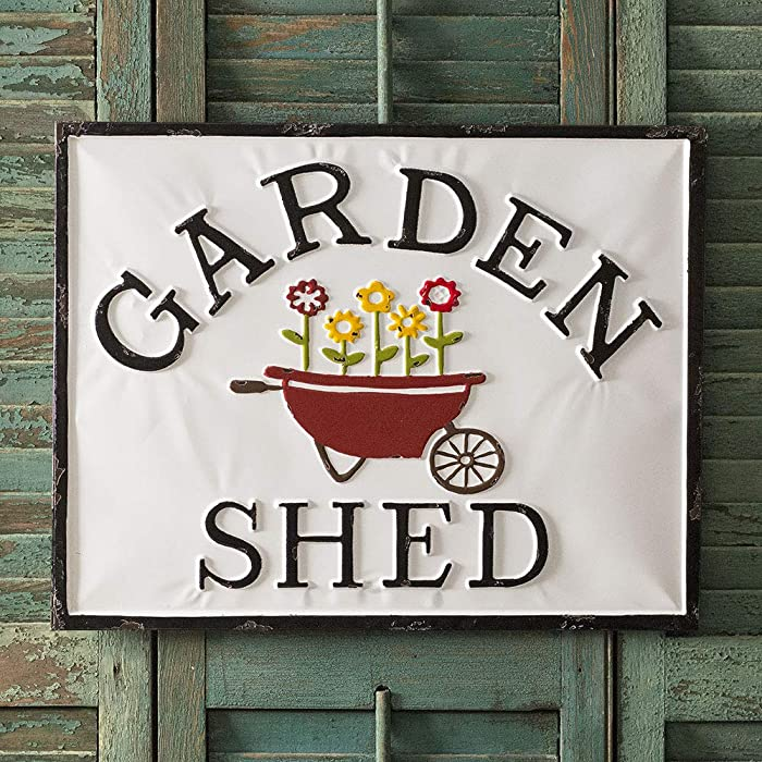 CTW Home Collection Garden Shed Metal Sign