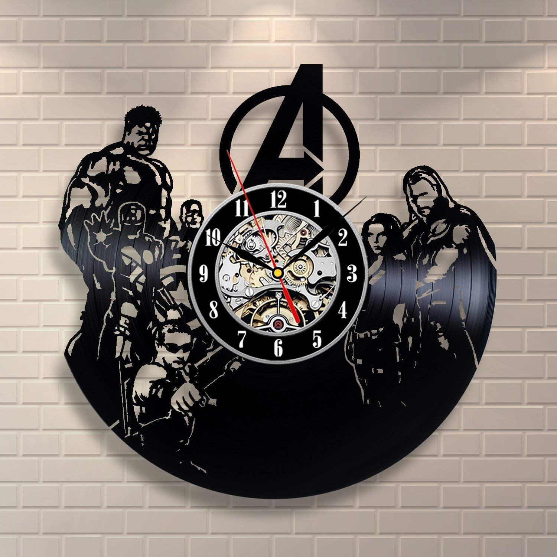 Inexpensive Avengers Superhero Team Vinyl Wall Clock Off Home Modern Or Gift Bombing free shipping
