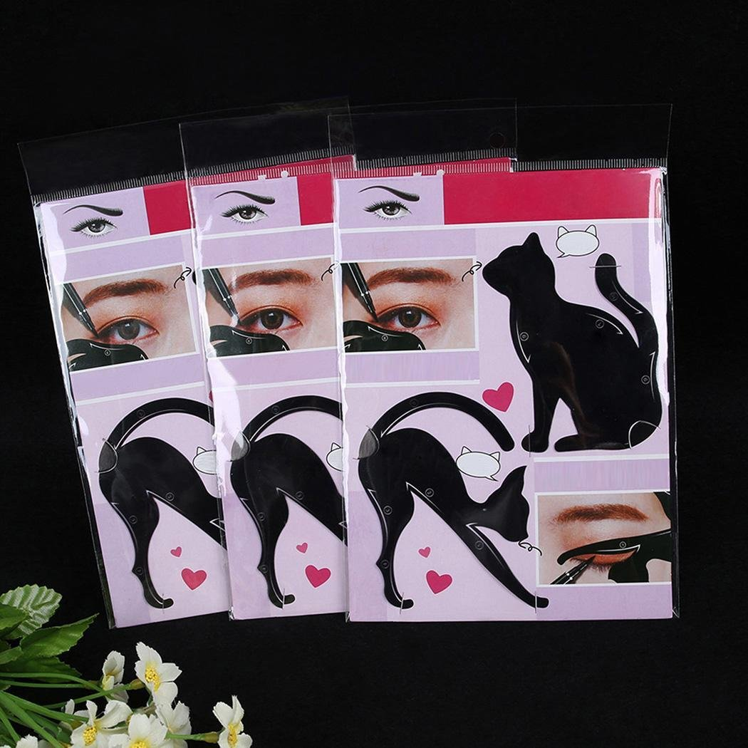 Vividy New 1 Pair Profession Eye Makeup and Eyeliner Stencil Template Shaper