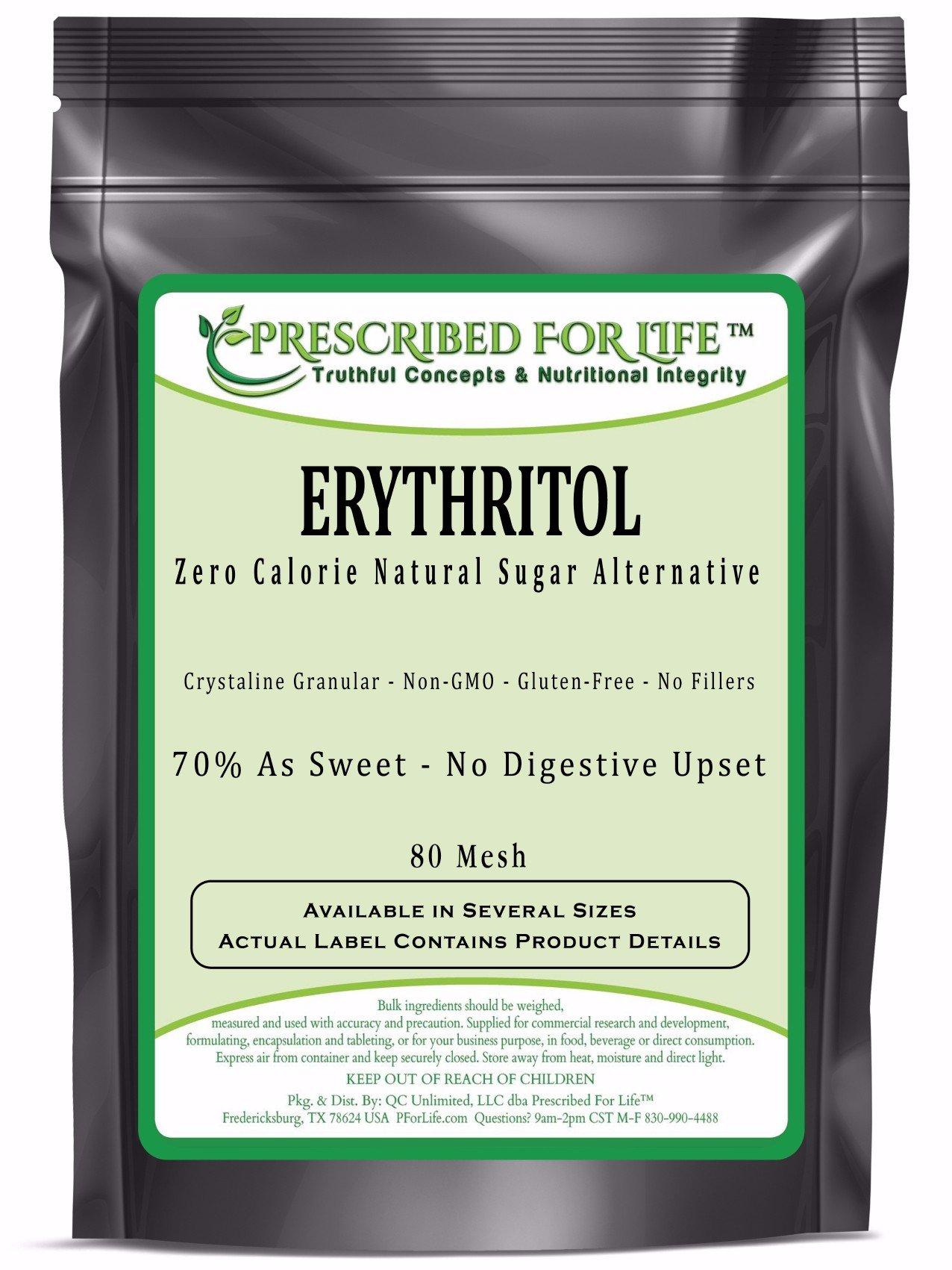 Erythritol - Non-GMO Zero Calorie Natural Granular Sugar Alternative - 70% Sweetness of Sugar, 25 lb