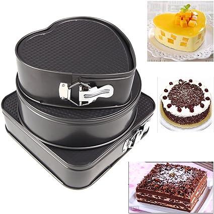 Juego de moldes para pasteles 3, Spring forma rectangular Bake & Take Buena antiadherente Seguro