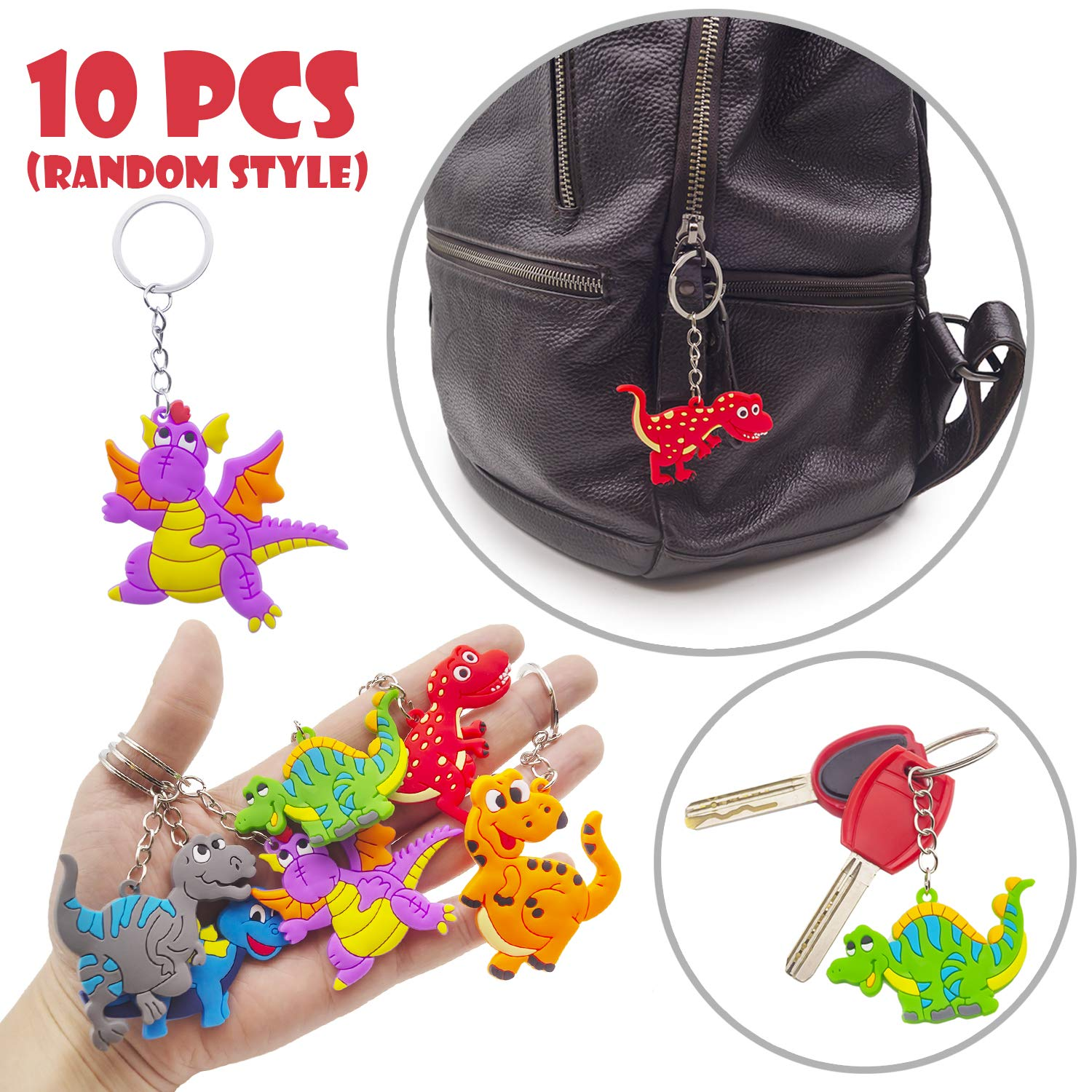 56 PCS Dinosaur Party Favors,Dinosaur Party Goodie Bag Fillers,Prizes Gift Carnivals for Kids Birthday