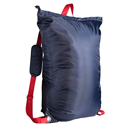 """Large Laundry Bag『24""""X34""""』with Zipper,KSMA College Laundry Backpack with 2  Strong Adjustable Shoulder Straps for College Students Apartment Dorm-Room"""