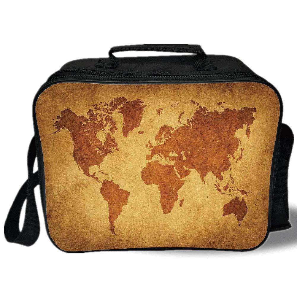 Amazon.com: Insulated Lunch Bag, Wanderlust Decor, Vintage World