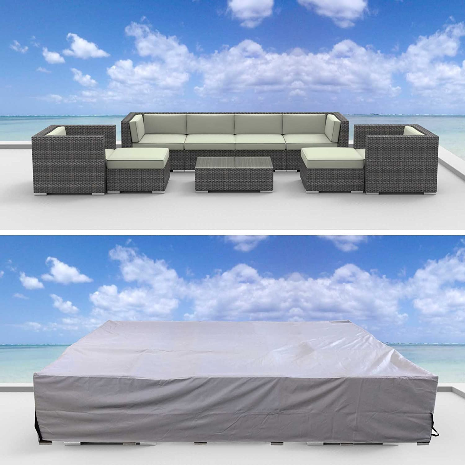 UrbanFurnishing Furniture-cover-L Outdoor Patio Furniture Cover