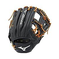 "Mizuno Prospect Select Series Infield Baseball Glove 11"", Negro"