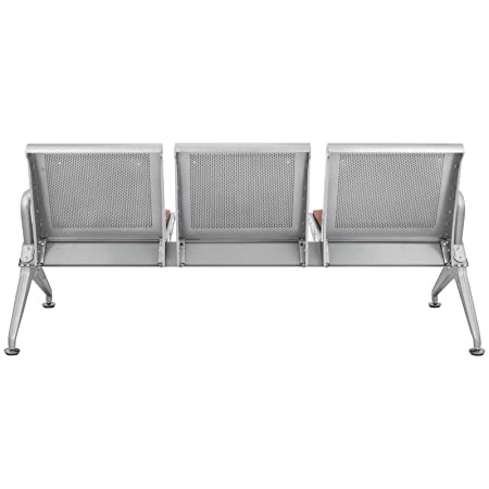 Amazon.com: VEVOR Sillas de sala de espera, 3 asientos ...