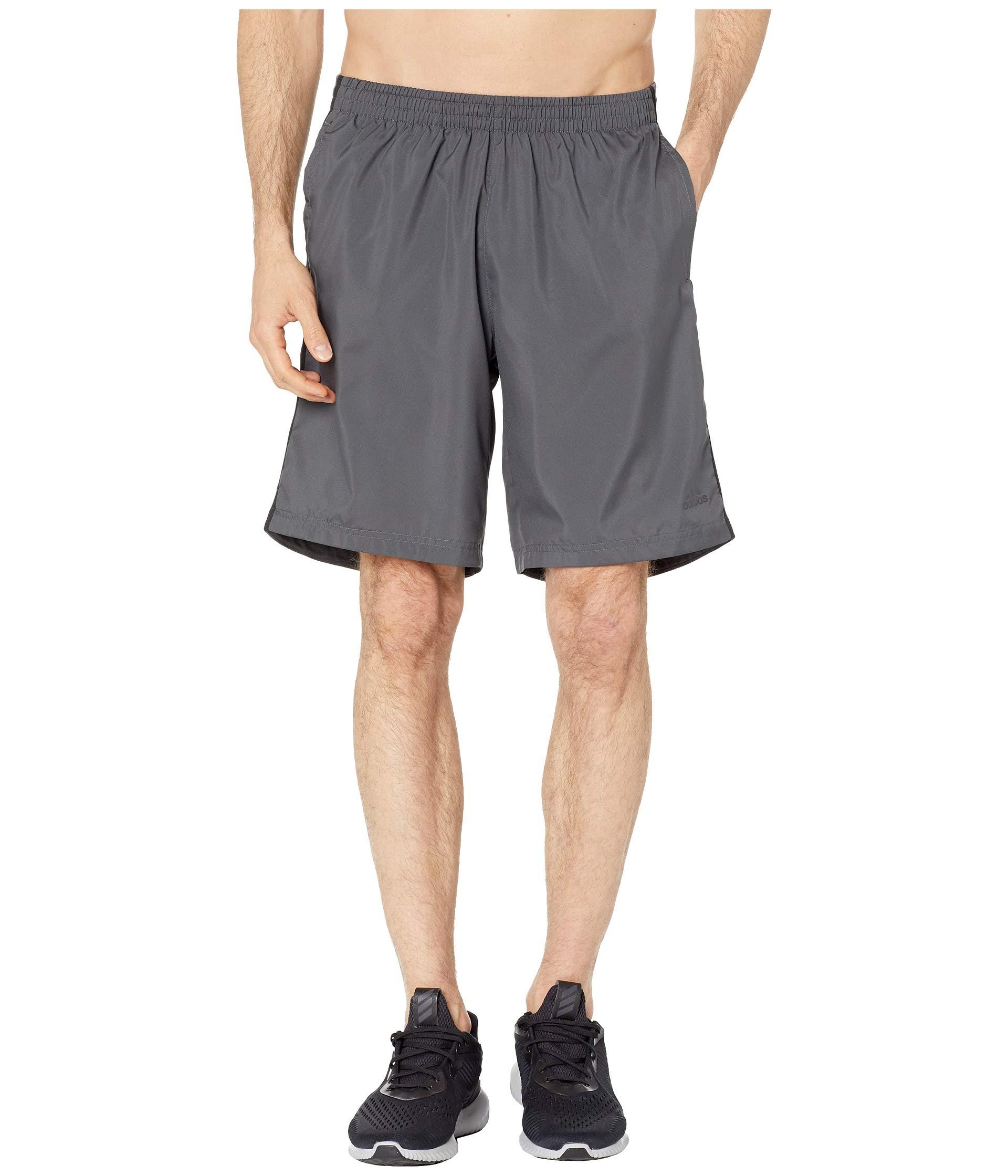 adidas Men's Own The Run Shorts, Grey/Black, Medium