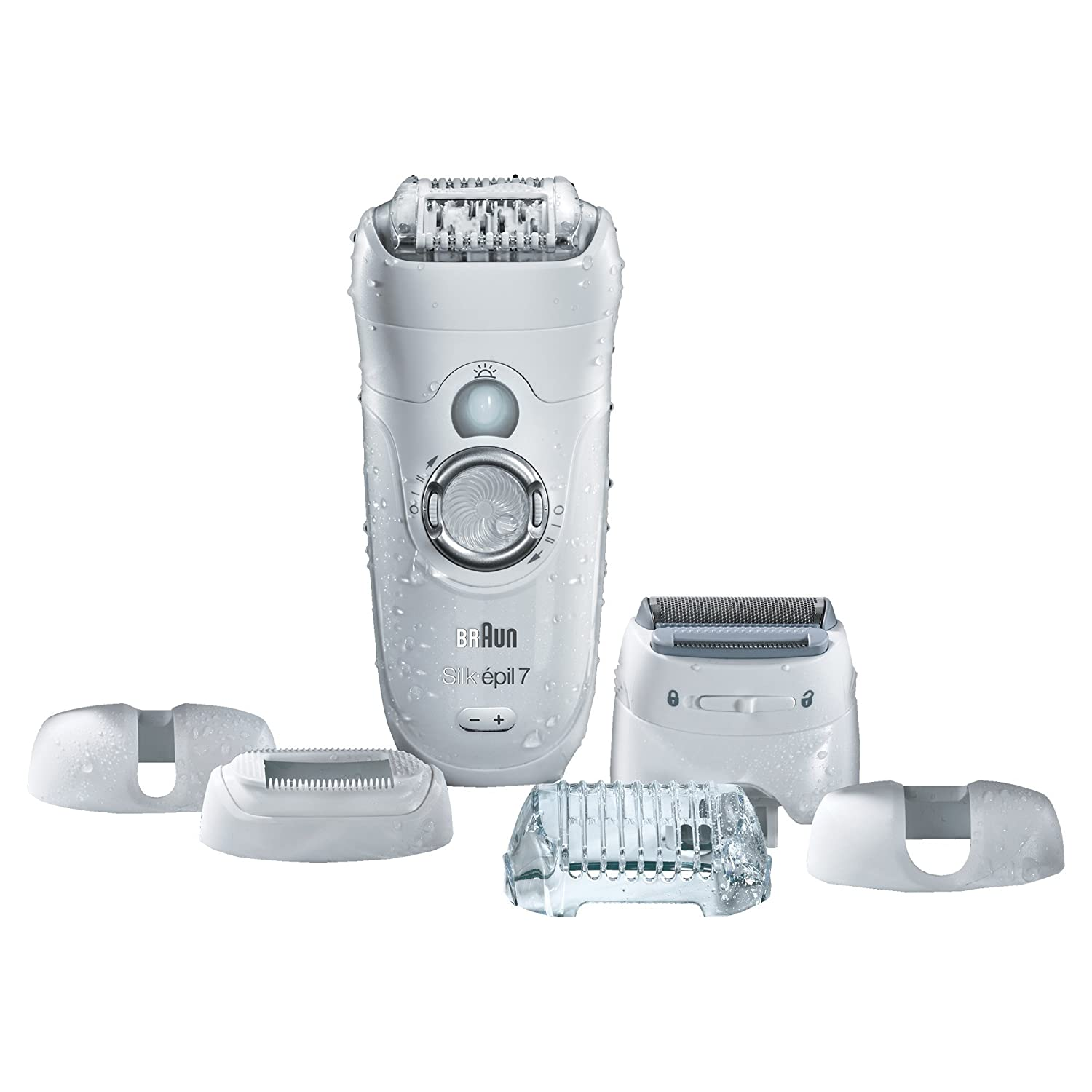 Braun Silk Epil 7 7-561 Women s Wet and Dry Cordless Epilator Electric Hair  Removal with 6 Extra Attachments - Ships with a 2 pin plug ef00253e41