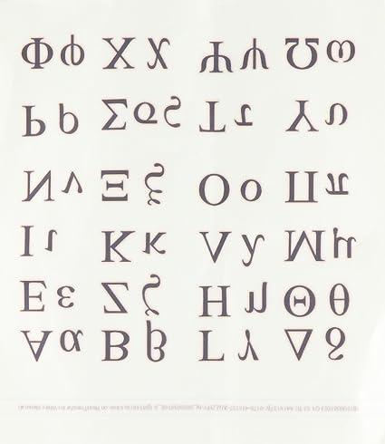 Amazon com: 3dRose ht_38168_2 Greek Alphabet Iron on Heat Transfer