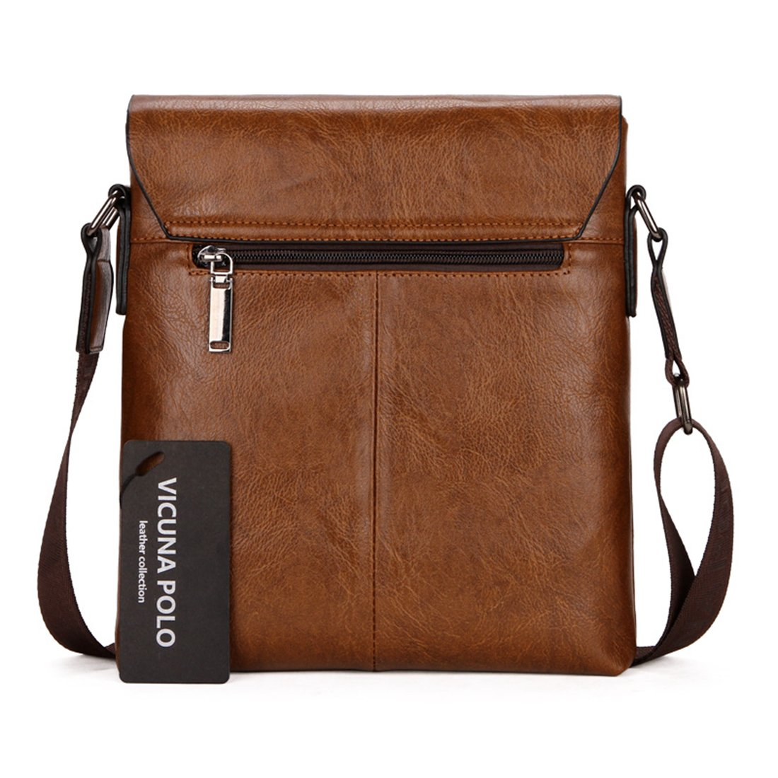 764d45bbbd VICUNA POLO Men Messenger Bag High Quality Leather Crossbody Bag Shoulder  Bag (Khaki)  Amazon.co.uk  Shoes   Bags