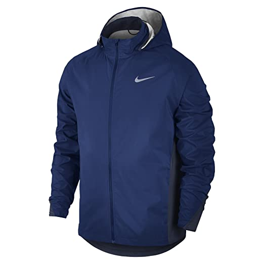 ee86803441 Amazon.com  Nike Shield Men s Running Jacket Purple Full Zip 801783 ...
