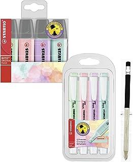 Marcador Pastel STABILO BOSS Original - Estuche con 4 colores pastel: Amazon.es: Oficina y papelería