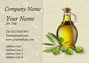 Vintage olive oil personalised business cards amazon office vintage olive oil personalised business cards reheart Choice Image
