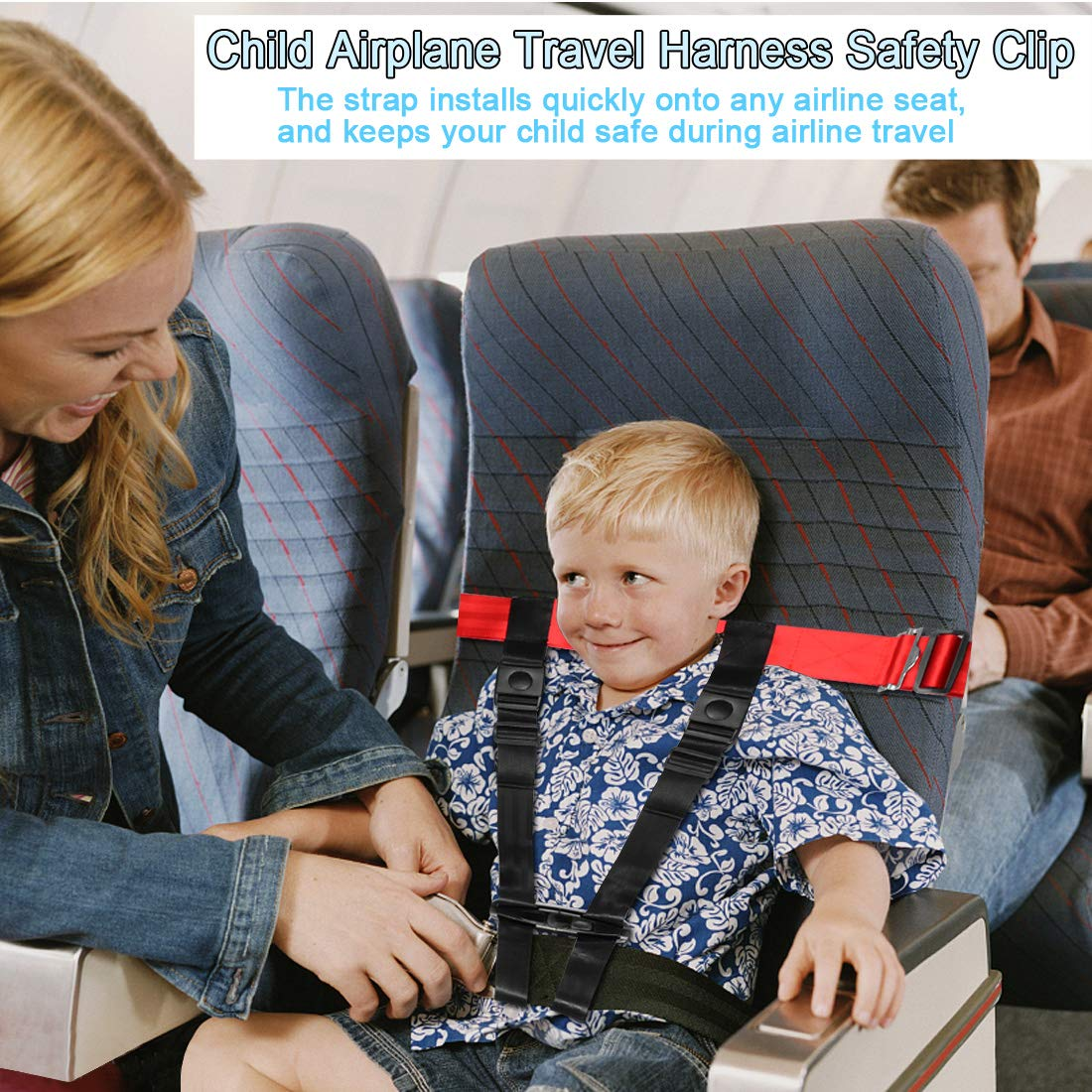 Child Airplane Travel Harness Safety Clip Strap Restraint System for Baby, Toddlers & Kids- for Airplane Travel Use Only by Together-life (Image #2)