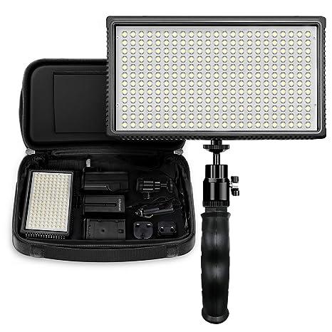 b5109be7e8ad9f Amazon.com   Polaroid Dimmable 312 LED Camera Video Hand Grip Light ...
