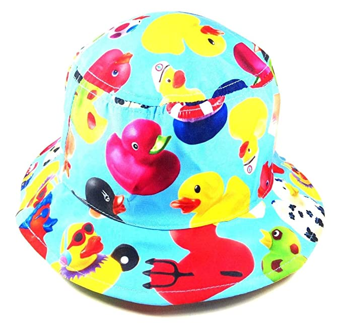 843b056f323 Multicolor Rubber Ducky Bucket Hat  Amazon.ca  Clothing   Accessories