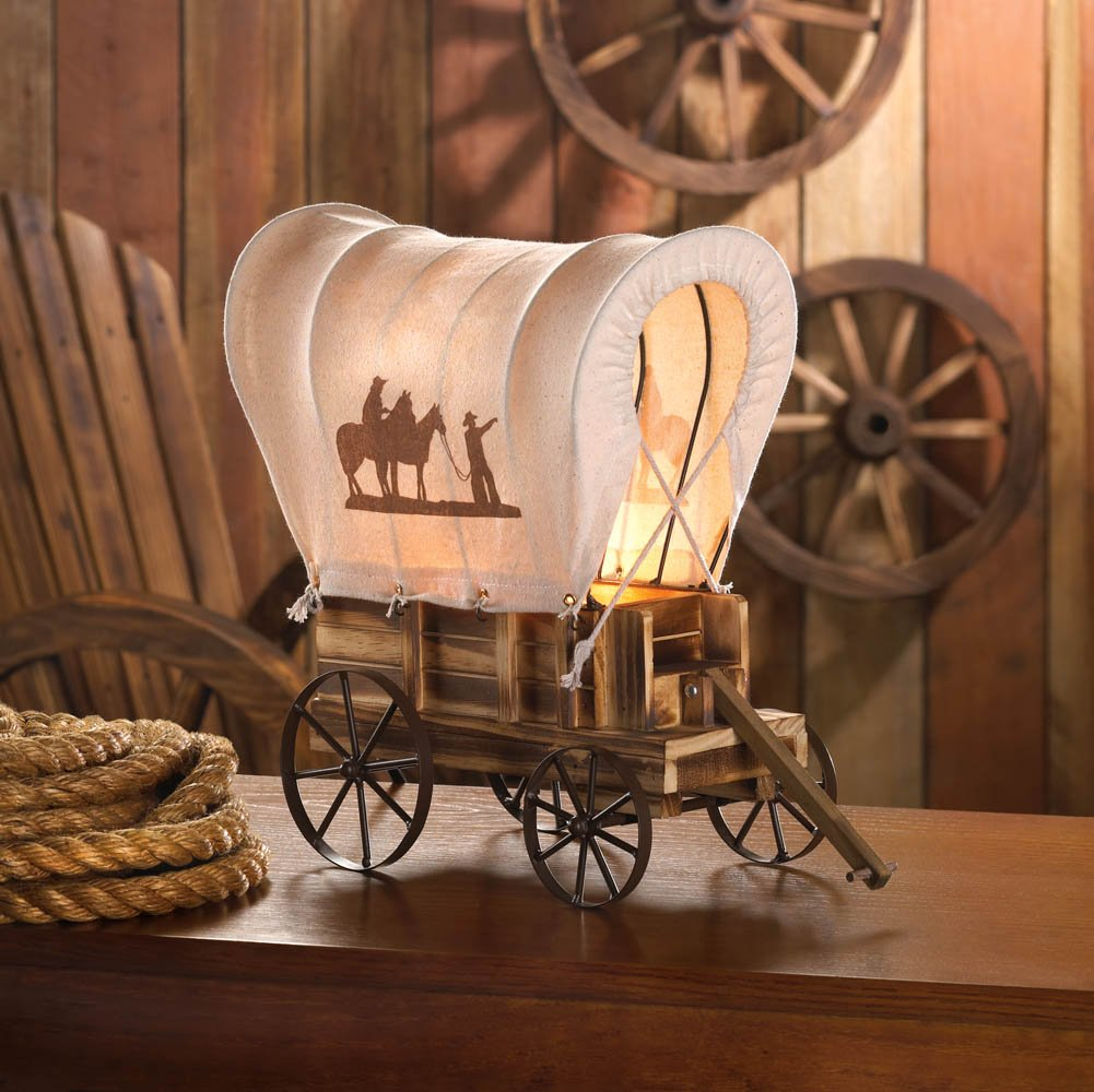 Giftcraft Western Wagon Table Lamp 40W Light