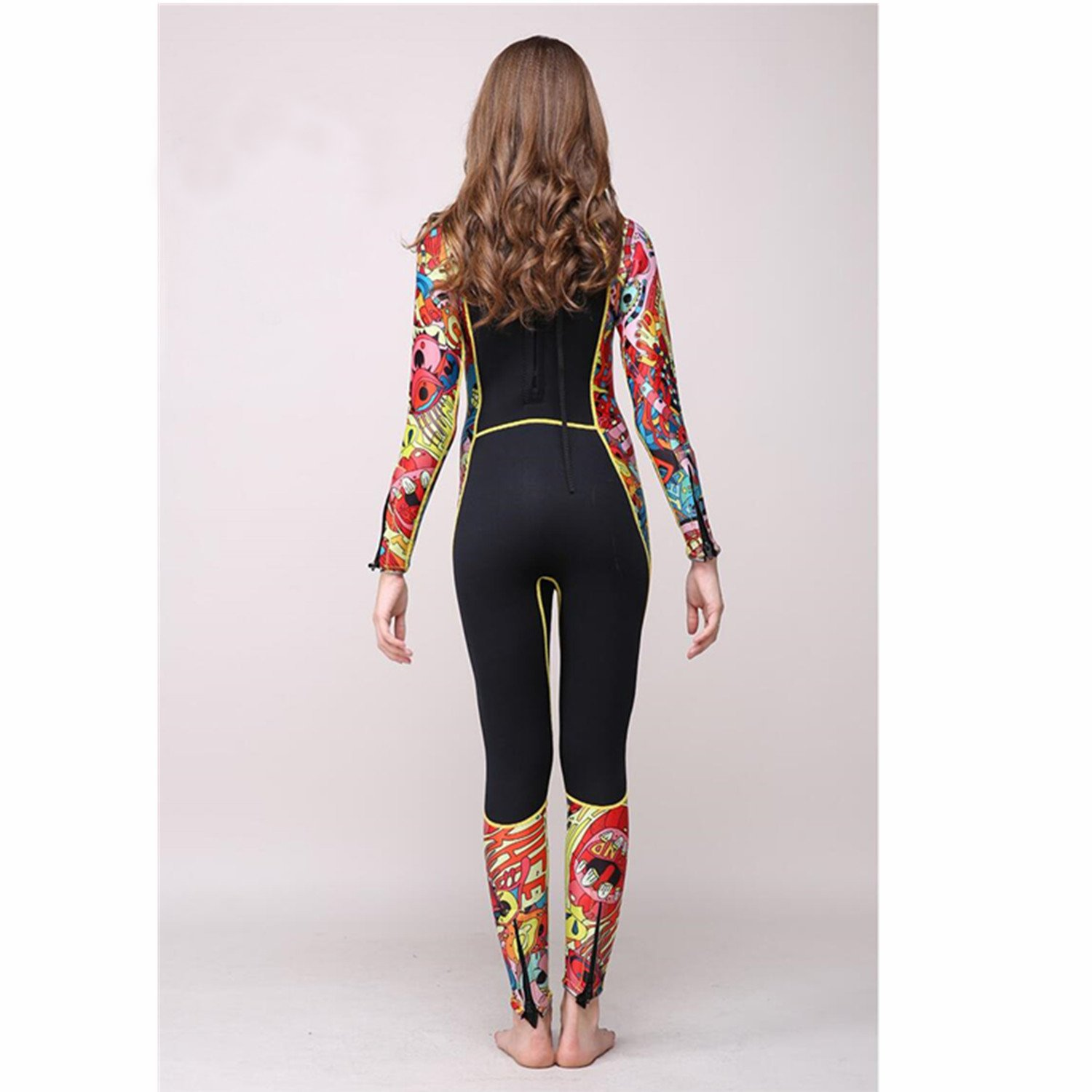 Diving suit 3mm Full Suit Flatlock Stitching Jumpsuit with Super-stretch Armpit Wetsuits Prevent Jellyfish Sting
