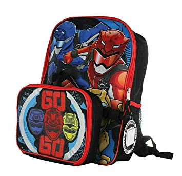 Power Rangers Super Ninja Steel Backpack with Detachable Insulated Lunch Bag