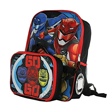 e6dac08ccab21f Power Rangers Super Ninja Steel Backpack with Detachable Insulated Lunch Bag:  Amazon.ca: Clothing & Accessories