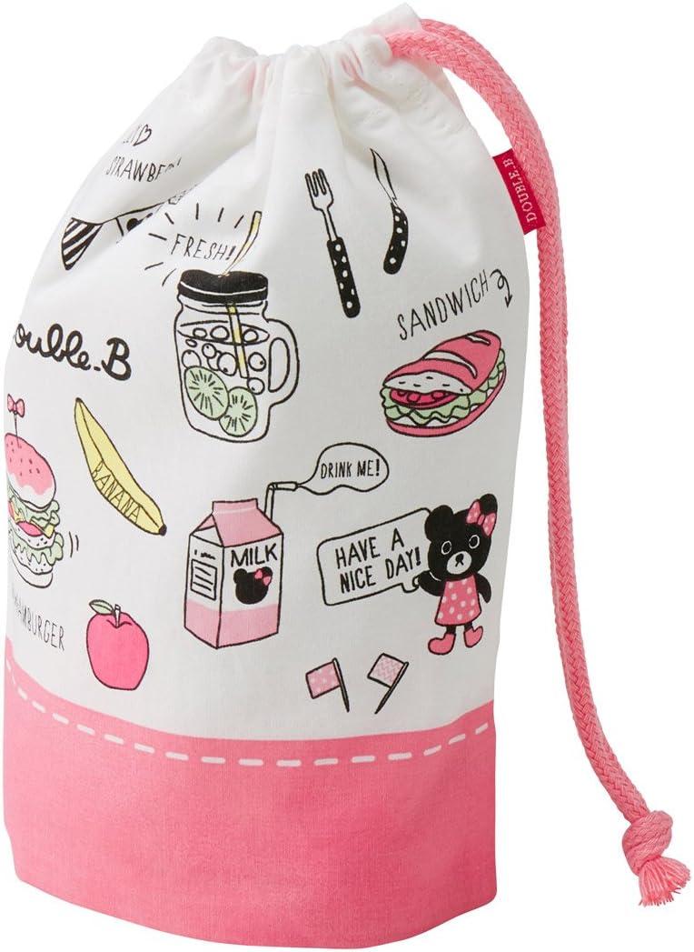 ミキハウス ダブルビー (MIKIHOUSE DOUBLE_B) コップ袋 65-4054-268 - ピンク