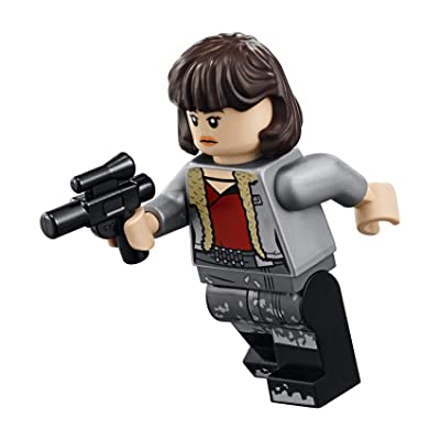 LEGO Solo: A Star Wars Story Minifigure - Qi'ra Qira (Silver and Black Dirt Stains) 75209: Toys & Games