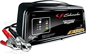 Schumacher SC1361 12V Fully Automatic Battery Charger and 10/50A Starter