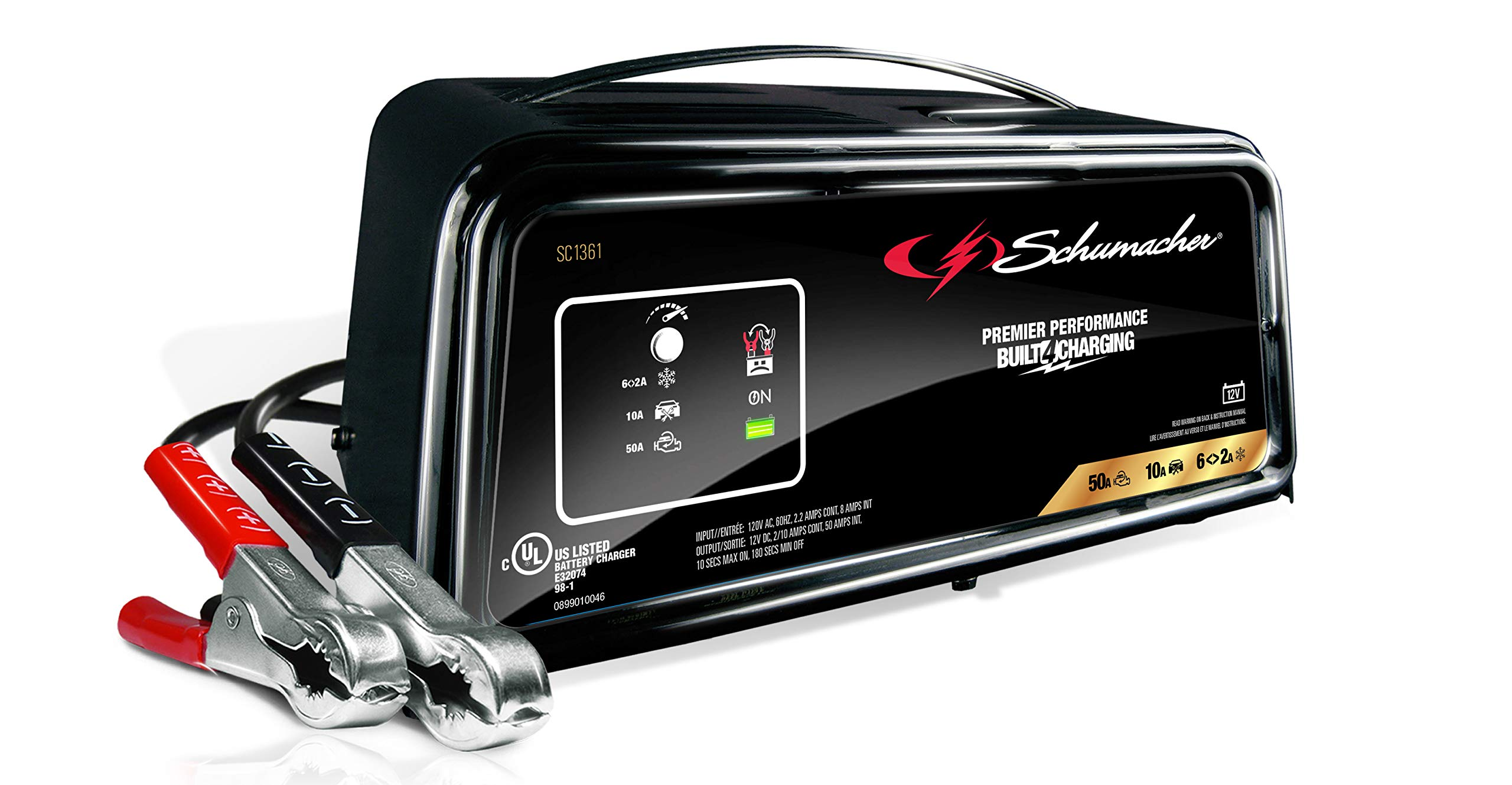 Schumacher SC1361 12V Fully Automatic Battery Charger and 10/50A Engine Starter by Schumacher (Image #1)