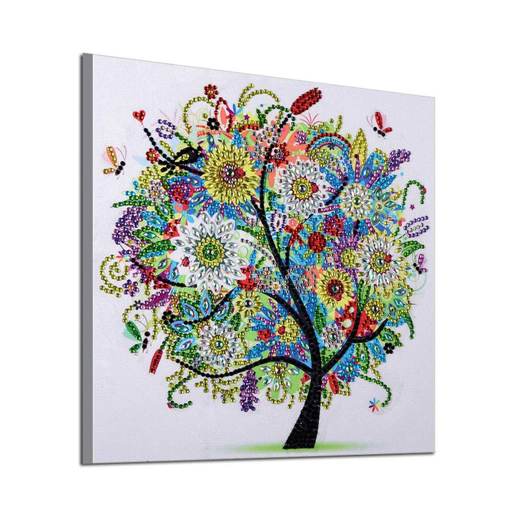 GXOK 5D Special Shaped Diamond Painting, DIY Partial Drill Cross Stitch Kits Crystal,30x30cm