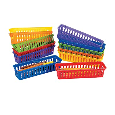 Fun Express Classroom Pencil/Marker Basket - 12 Pieces - Educational and Learning Activities for Kids: Toys & Games