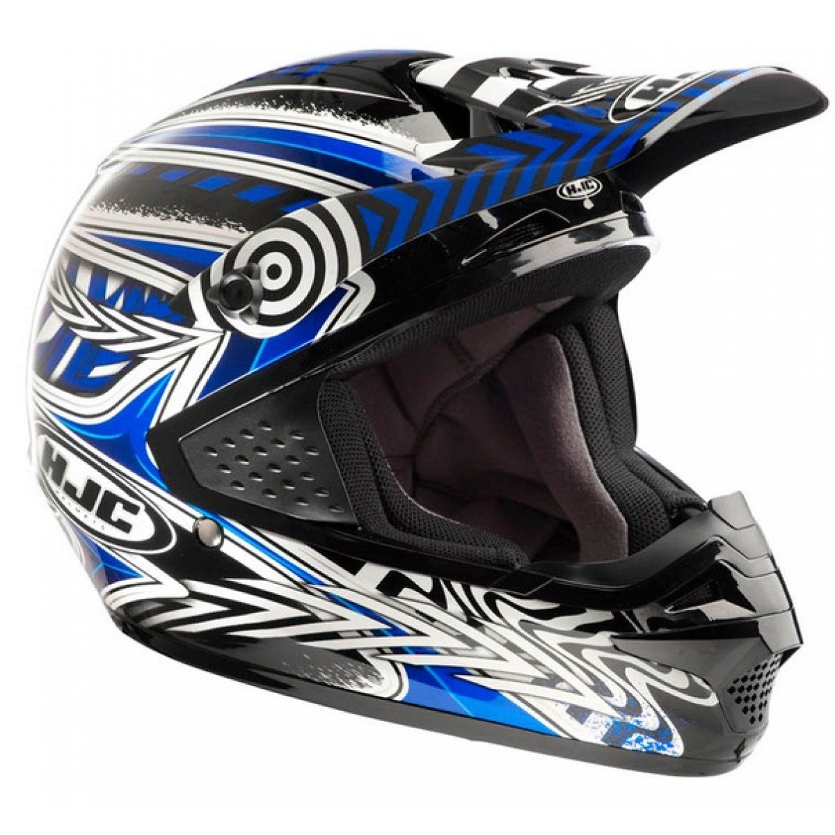 Amazon.es: moto CROSS ENDURO CASCO HJC CS MX-CHARGE MC2 negro talla XL, color azul