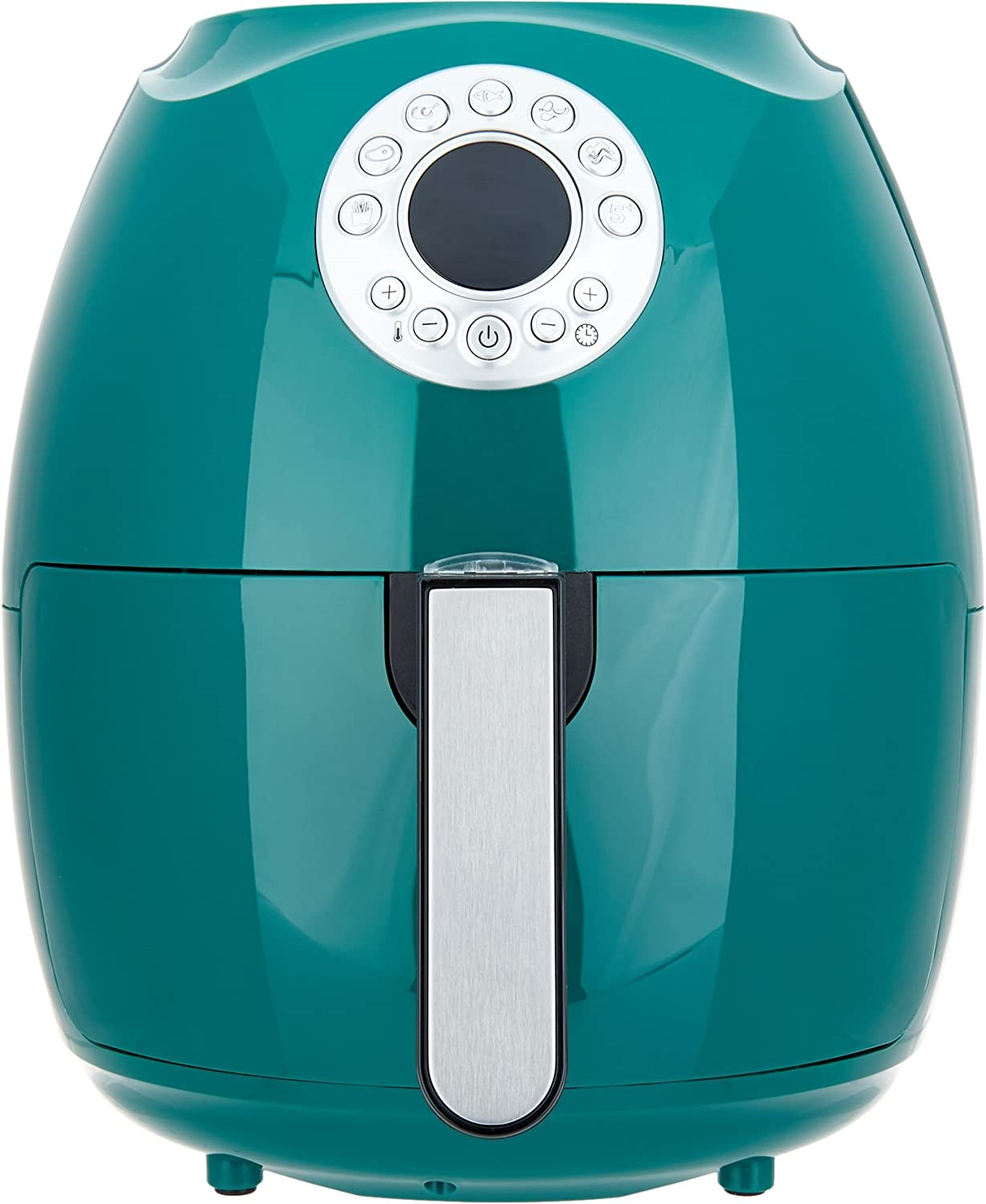 "Cook's Essentials 600187470315 3.4-qt Digital Air Fryer w/Presets & Pans (Green), 12-1/2""H x 10-1/2""Diam, Weighs 9 lbs"