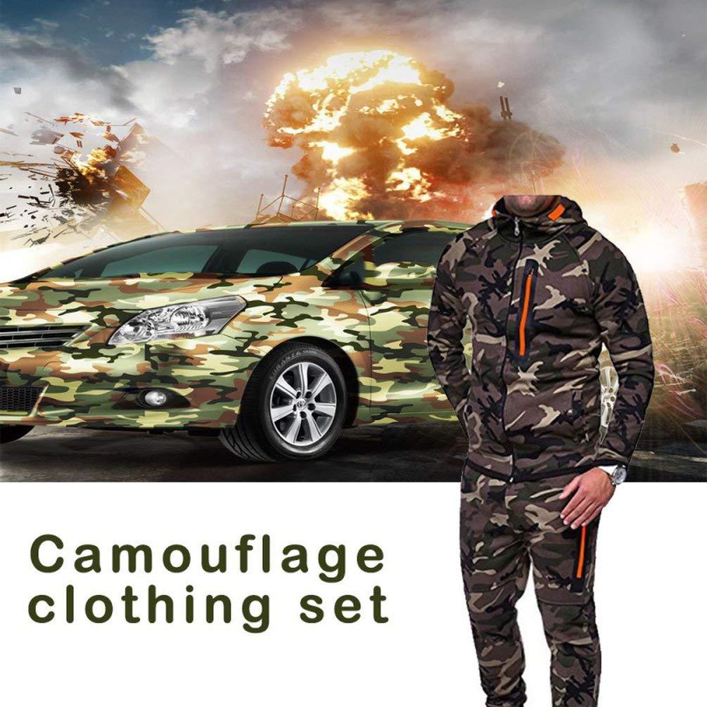 XL FCGV Tuta Sportiva da Uomo Tuta Mimetica Tuta Lunga Tuta Sportiva da Esterno Camouflage Green