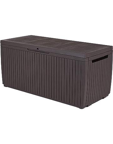 Keter - Arcón exterior Springwood, Capacidad 305 litros, Color marrón