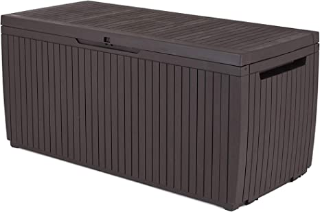 Keter 123 x 53.5 x 57 cm Springwood Outdoor Boîte de rangement en plastique mobilier de jardin