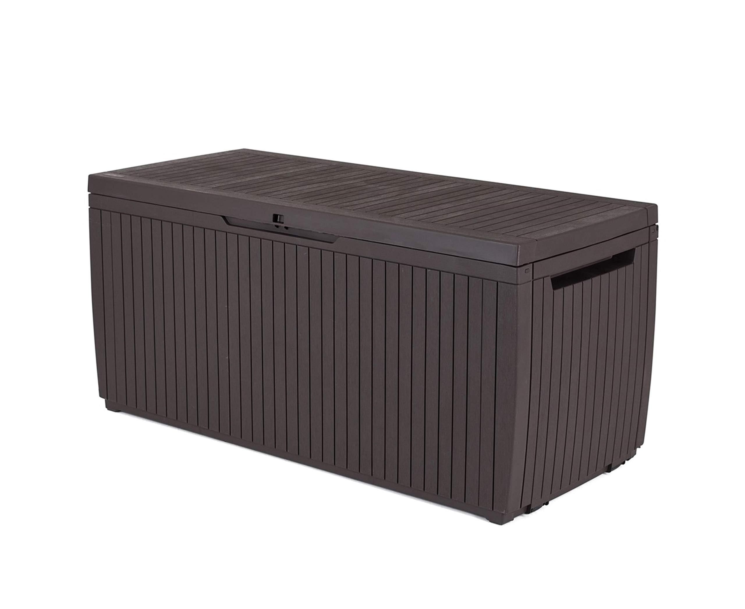 Keter - Arcón exterior Springwood. Capacidad 305 litros. Color marrón product image