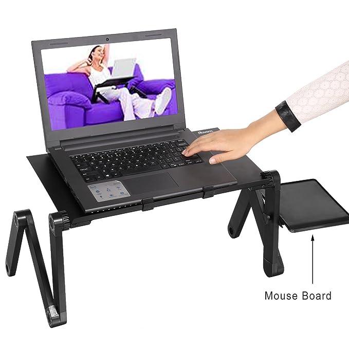 Lonlier Soporte Ajustable del Ordenador de 360 Grados Escritorio Plegable Mesa Portátil de Computadora: Amazon.es: Ropa y accesorios