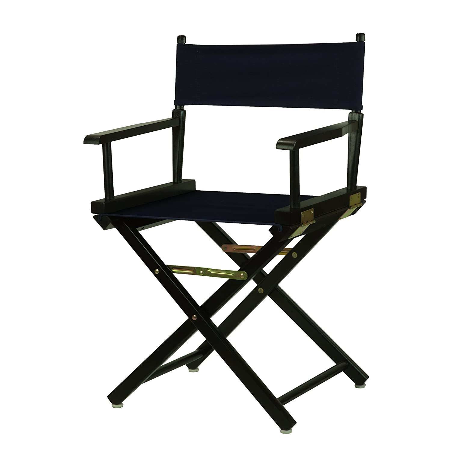 Navy bluee 18-Inch Casual Home 24-Inch Director Chair Black Frame, Hunter Green Canvas