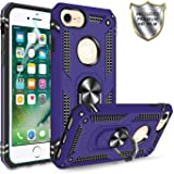 iPhone 6/6S/7/8 Phone Case,iPhone 6 Case with HD Screen Protector,Gritup 360 Degree Rotating Metal Ring Holder Kickstand Armor Anti-Scratch Bracket Cover Case for Apple iPhone 6/6S/7/8 Purple