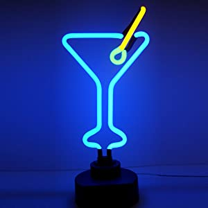 Neonetics Business Signs Martini Glass Neon Sign Sculpture