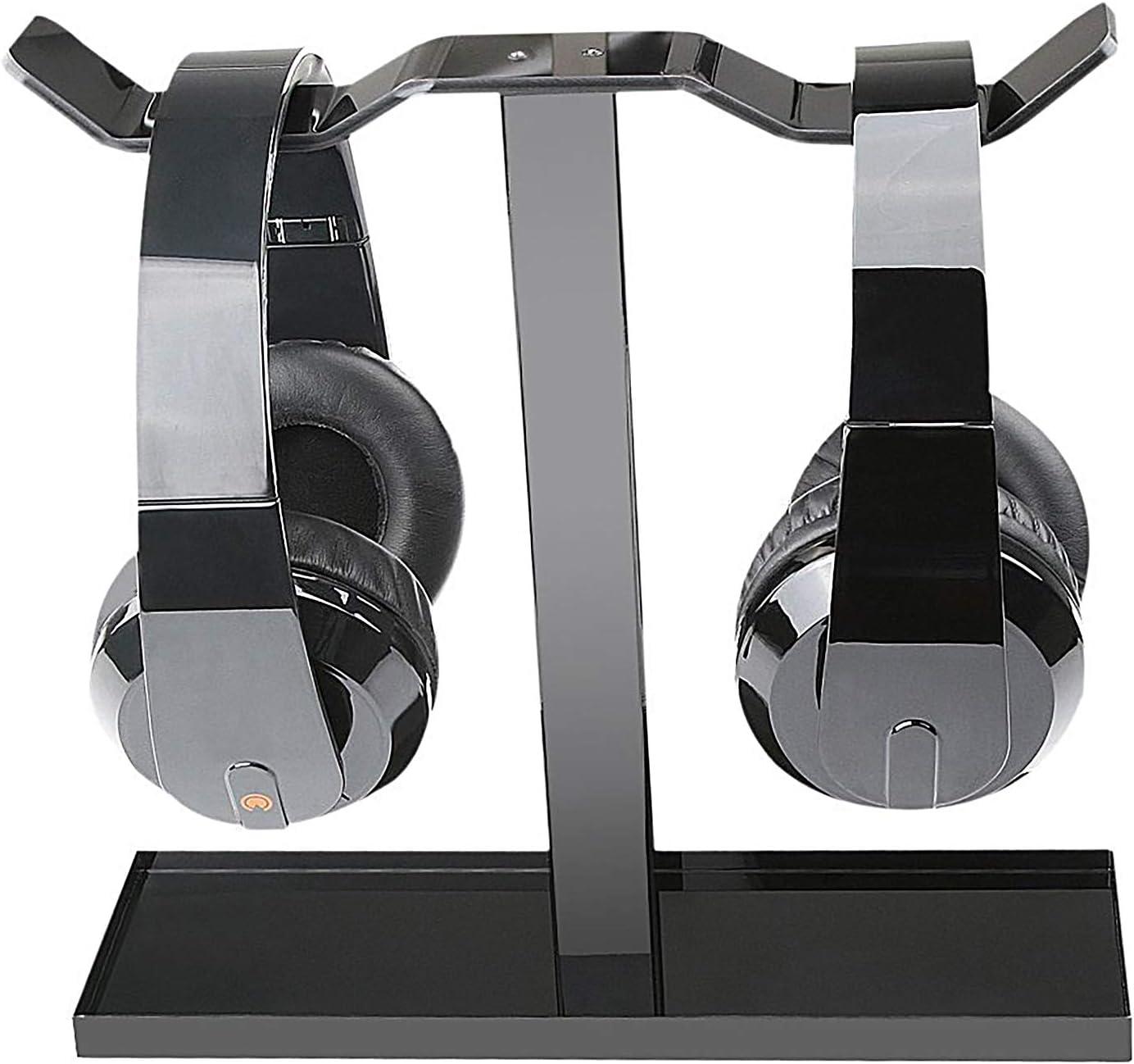 360 Degree Swivel Springed Clamp Headphone Desk Hanger Hook for RS120 Desire2 Headphone Headset Stand Holder QuietComfort Black MDRZX110 Headphones and More Riff SoundLink Momentum
